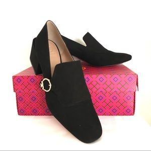 Tory Burch Tess Loafer Pump Black Suede